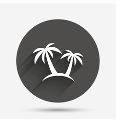 Palm tree sign icon travel trip symbol vector