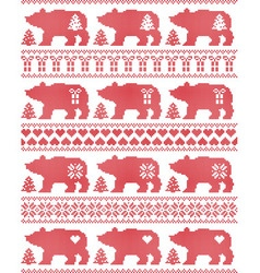 Polar bear seamless christmas pattern vector