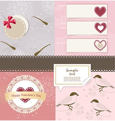 Valentines day scrapbook elements vector