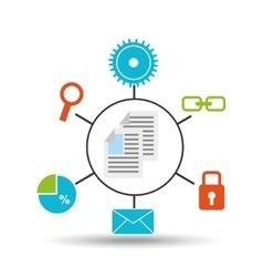 Document technology social media concept vector