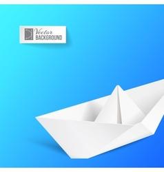 Origami ship vector image