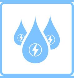 Hydro energy drops icon vector