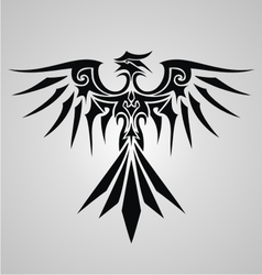 Tribal phoenix bird vector