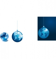 baubles with world map vector image