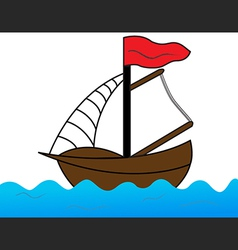 Sailing on the sea vector