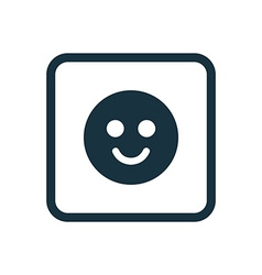 smile icon Rounded squares button vector image