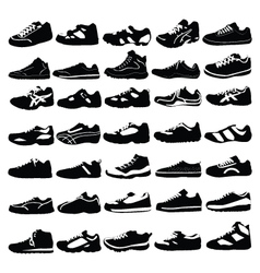 silhouettess of shoes vector image