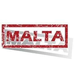 Malta outlined stamp vector