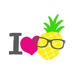 I love pineapple print vector