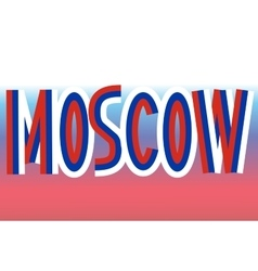 Moscow inscription made from russian flags vector