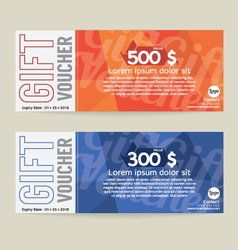 Gift voucher modern template design vector