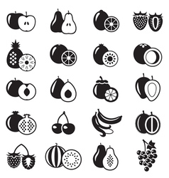 Fruits icons set vector