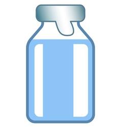 Small glass vial vector image