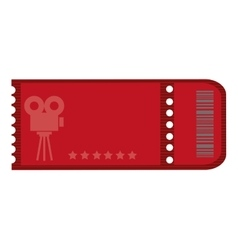 Red movie ticket vector