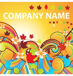 Autumn Wallpaper for Business Design vector image vector image