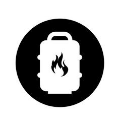 Barrel tank oil icon vector