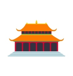 Beautiful china travel landmarks chinese temple vector image vector image