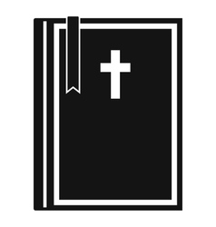 Bible icon simple style vector