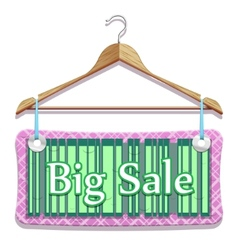 big sale clothes hangers vector image