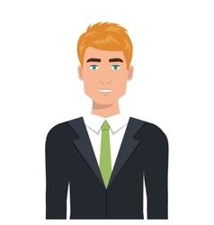 Businessman in elegant suit cartoon vector