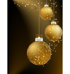 Christmas ball made from a golden snowflakes eps8 vector
