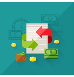 concept of refinance in flat design style vector image