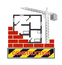 construction and architecture symbol vector image vector image