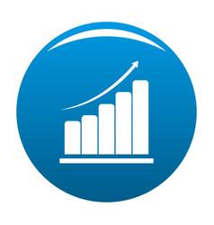 diagram icon blue vector image