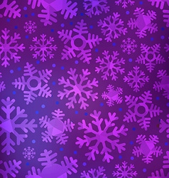 Different blue snowflakes set vector image