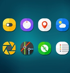 Different modern smartphone application icons set vector image vector image