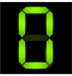 digital number zero vector image