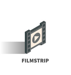 filmstrip icon symbol vector image