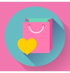 Flat-design shopping bag icon vector
