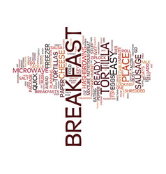 Freezable breakfast tacos easy breakfast idea vector
