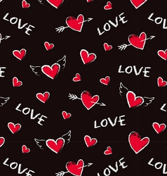 Happy Valentine Day seamless pattern vector image