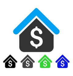 Loan mortgage flat icon vector