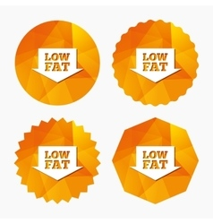 Low fat sign icon Salt sugar food symbol vector image