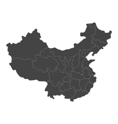 Map of china with regions vector