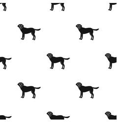 Mastiff single icon in black stylemastiff vector