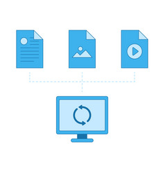 network files sync cloud vector image vector image
