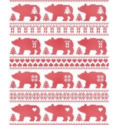 Polar Bear seamless Christmas pattern vector image vector image
