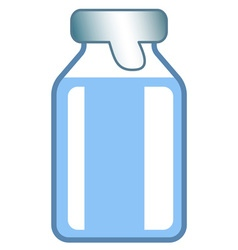 Small glass vial vector image vector image