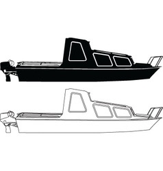 Two boats - vector