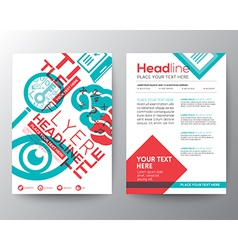 Typography brochure flyer design layout template vector