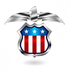 us fantasy badge vector image vector image