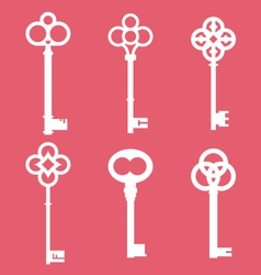 Vintage skeleton keys vector