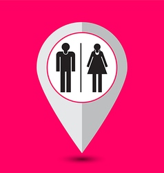 Toilet pointer sign vector