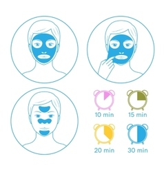 Instructions for face masks vector