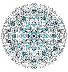 floral lacy vintage pattern vector image