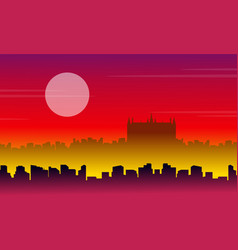 London city scenery vector